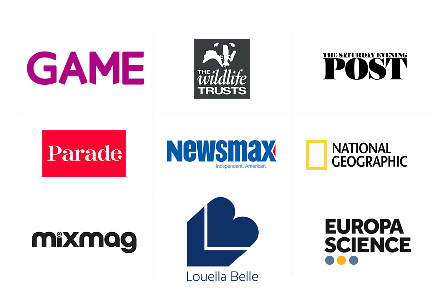 Our b2c online magazine platform clients' logos
