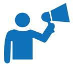 Illustration of speaker/megaphone